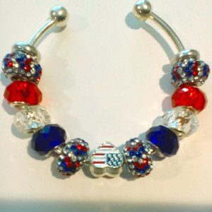 Patriotic European Bead Bangle